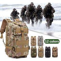 30L Waterproof Military Tactical Backpack Assault Bag Rucksack Camping Outdoor