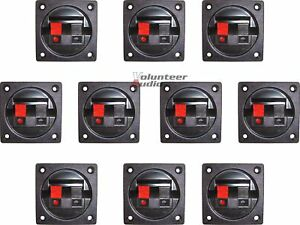 10) New Scosche Subwoofer Speaker Square Box Terminal Cup Spring Post Sub Round