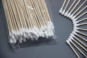 100Pcs Medical Swabs 6'' Long Wood Handle Sturdy Cotton Applicator