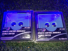 2 x HE108G Home Easy Mint Glass Remote Controlled 2G Touch Dimmer Switch #2