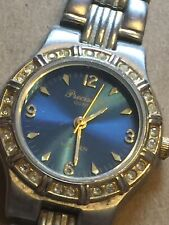 Precision by GRUEN Analog Quartz Watch Blue Dial Silver Tone GP3034 Vintage