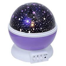 Cosmos Star Sky Moon Projector LED Super Bright Night Lamp 3 Modes USB Purple