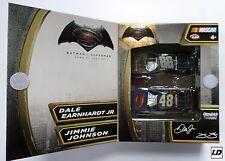 Dale Jr & Jimmie Johnson 2016 Batman Vs Superman 1:64 2-Car Pack ARC -
