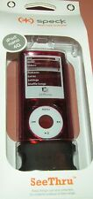 Speck SeeThru hard shell case for Apple iPod nano 4th Gen, Burgundy, New