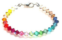 HANDMADE GORGEOUS GENUINE SWAROVSKI CRYSTAL BRACELET - COMES IN BEAUTIFUL BOX