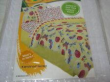 New Crayola Sunshine Bugs Twin Bedskirt - Yellow - 39x75x14 Nip