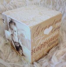Hand Made Wooden Personalised Grandma Nanny Mummy Mum Photo Cube Gift Present