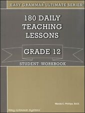 Easy Grammar Ultimate Series: 180 Daily Teaching Lessons Grade 12 Workbook