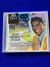 NAT KING COLE To Whom it may Concern + Every Time I Feel the Jazz CD Promo Copy
