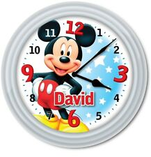 Mickey Mouse Clubhouse PERSONALIZED Wall Clock - Disney Kids Boys Bedroom - GIFT