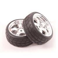 4pcs Tires & Rim Wheel for 1/10 HSP HPI Traxxas On-Road Racing Car C