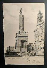 1906 Baltimore Maryland to Massachusetts Battle Monument RPPC Cover