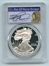 2004 W $1 Proof American Silver Eagle 1oz PCGS PR69DCAM Thomas Cleveland Native