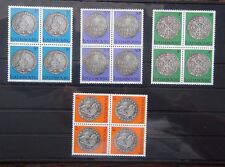 Luxembourg 1981 Luxembourg Culture Coins in the State Museum in blocks x 4 MNH