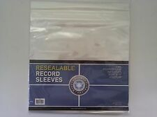 "CSP Record Sleeves Resealable Album Protector 100ct NIP 12 3/4""x13"" 2 mil 33 rpm"