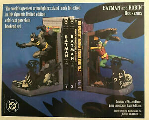 Batman and Robin Deluxe  Bookends Statue Set New 1997 DC Comics  Amricons
