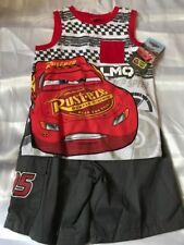 DISNEY CARS BOYS 3T -  2 PIECE TANK AND SHORTS OUTFIT ADORABLE