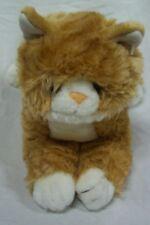 "NICE CUTE TAN & WHITE CAT 10"" Plush STUFFED ANIMAL Toy"