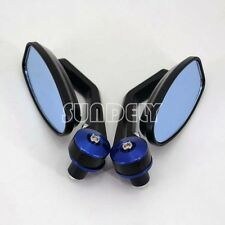 BLUE 7/8″ 22MM UNIVERSAL MOTORCYCLE BIKE HANDLE BAR END REARVIEW SIDE MIRRORS