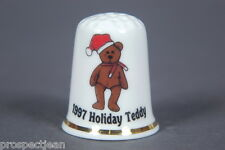 Ty Beanie Baby '1997 Holiday Teddy' China Thimble B/159