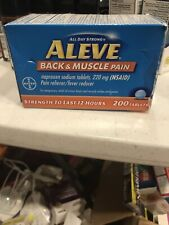 Aleve Back & Muscle Pain Naproxen Sodium 220 mg 200 Tablets EXP 01/22