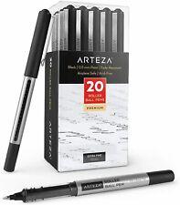 Arteza Black Roller Ball Pens, Extra Fine .5mm - Set of 20