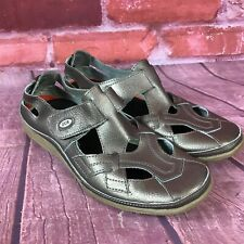 CCR IonSole Women's Sz 9 Pewter Leather Sport Sandals