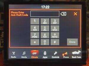 UAS/UAQ 4C Radio Unlock Code Anti Theft Ram, Jeep, Dodge, Chrysler 8.4 Uconnect
