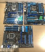 Lot of 3 Motherboards ASUS P8Z68-V LX - ASUS P8Z68-deluxe -ASUS P7P55 LX -Parts
