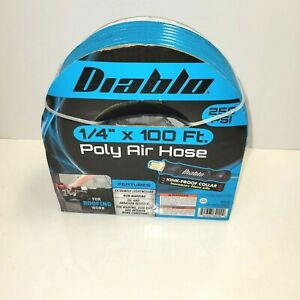 """Harbour Freight Air Compressor Nylon Tubing 100 Foot 1/4"""" with fittings"""