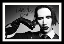 MARILYN MANSON AUTOGRAPHED SIGNED & FRAMED PP POSTER PHOTO