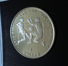 2010 Sierra Leona Sudáfrica la Copa Mundial de FIFA en caso de regalo de un dólar moneda