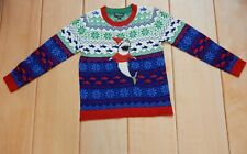 33 Degrees Ugly Christmas  Boys Sweater Shark  - Size L
