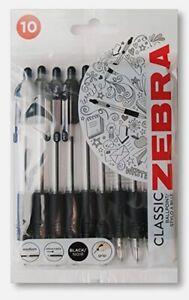 Zebra Z-Grip Retractable Ballpoint Pens 1.0mm - Black Ink