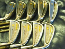 Honma Mens Lb606 New H&F golf iron 18K gold 4stars 4-Sw Rare Excellent !