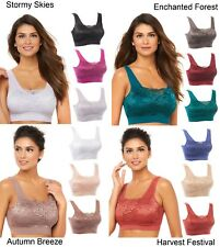 Rhonda Shear Lace Overlay 3-pack Bra with Removable Pads (HSN 557604)