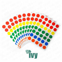 280 Sticky Coloured 13mm Self Adhesive Label Dots - Assorted Colours