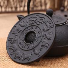 Chinese Zodiac Cast Iron Teapot Holder Mat Table Pad Heat Insulation Trivet