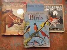 Children's Books Vintage (4) Crafters Artists Home Décor A Child's Book Of Birds