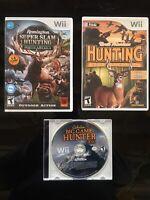Nintendo Wii LOT of 3 Hunting Games Cabela's, Remington And Big Game Hunter