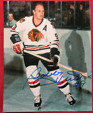 Bobby Hull #9 Chicago Blackhawks Signed 8x10 Color Hockey Photo COA