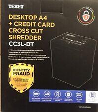 3L ELECTRIC DESKTOP PAPER SHREDDER CROSS CUT SHREDDING CARDS DOCUMENTS BIN