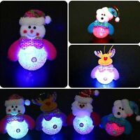 Snowman Santa Claus Ornaments Christmas Tree LED Light Hanging Xmas Decor