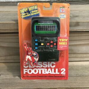 Mattel Classic Football 2 Handheld Electronic Game 2002 Factory Sealed NEW
