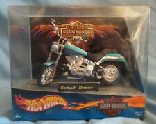 HARLEY DAVIDSON HOT WHEELS 1:18 DIE-CAST MOTORCYCLE DATED 2001 NEW IN THE BOX.