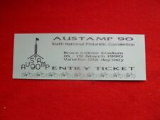 Austamp 90 Souvenir Entry Ticket Philatelic Conference Canberra