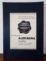Pubblicità originale Alemagna anni '50 rifilatura da rivista in passepartout