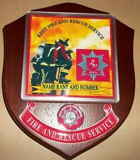 Kent Fire and Rescue Service wall plaque personalised free of charge..