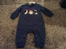 Frugi Baby Girls Christmas Appliquee All-in-one Outfit Age 3-6 Months Bnwt