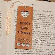 Personalised Wooden Bookmark Worlds's Best Heart Bookmark Mummy Grandma Gift